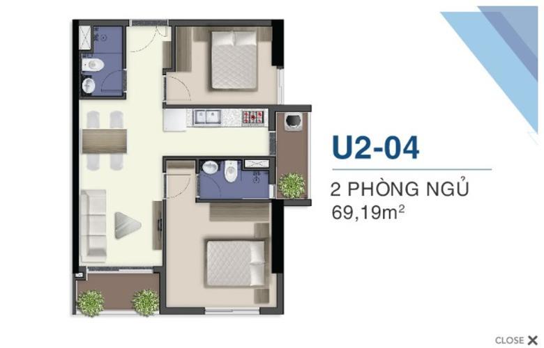 Căn hộ Q7 Saigon Riverside tầng 34, nội thất cơ bản.