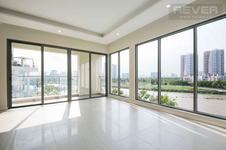 Phòng Khách Bán hoặc cho thuê căn hộ office-tel Diamond Island - Đảo Kim Cương 3PN, tầng thấp, diện tích 117m2, view sông lý tưởng