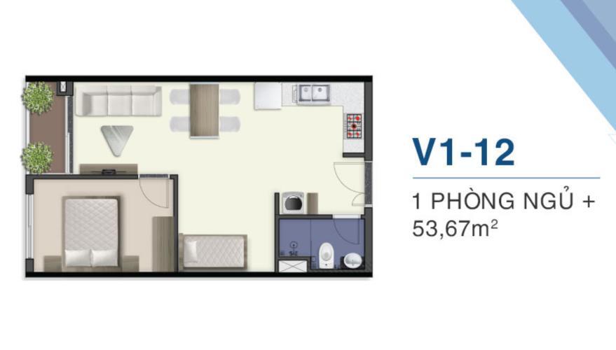 Căn hộ tầng cao Q7 Saigon Riverside nội thất cơ bản, view thoáng mát.