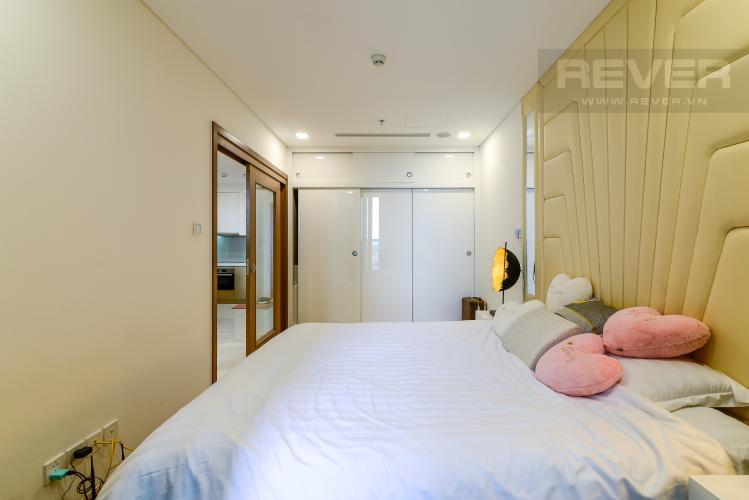 Phòng Ngủ Bán căn hộ Vinhomes Central Park 1PN, tháp Landmark 81, đầy đủ nội thất, view trực diện hồ bơi