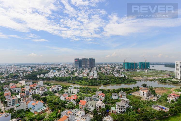 View Cho thuê căn hộ The Sun Avenue 1PN, tầng cao, nội thất cơ bản, view sông thoáng mát