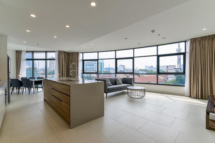 Cho thuê căn hộ City Garden tầng thấp, 3PN đầy đủ nội thất, có thể dọn vào ở ngay
