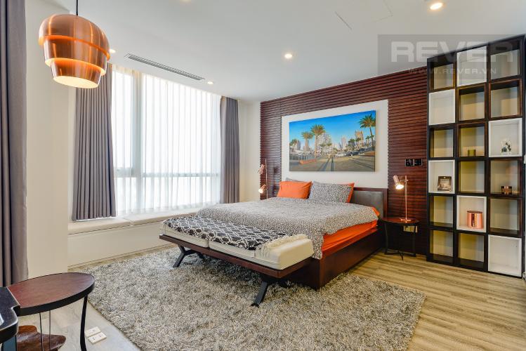 Phòng ngủ Căn hộ Vinhomes Central Park tầng thấp C1 thiết kế đẹp, đầy đủ tiện nghi
