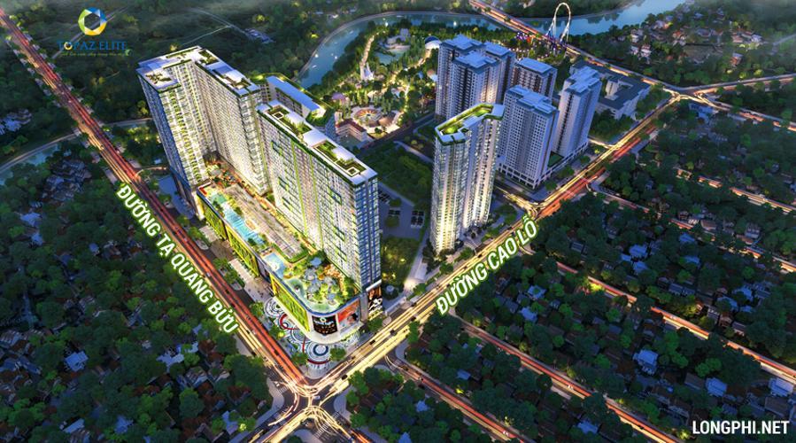 Phối cảnh dự án Topaz Elite Căn hộ Topaz Elite ban công hướng Đông Nam, view thành phố sầm uất.
