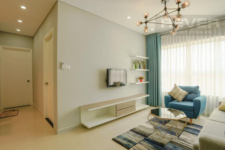 Phòng Khách Căn hộ Dragon Hill 2 tầng thấp, 2 phòng ngủ, full nội thất