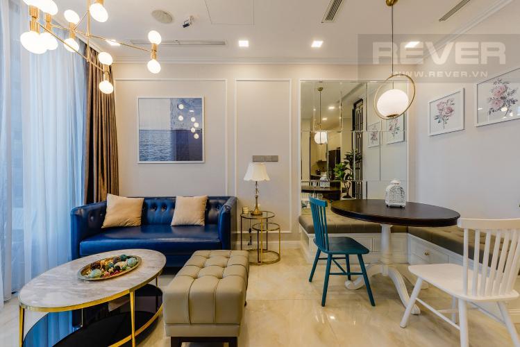 Phòng khách Căn hộ Vinhomes Golden River tầng cao, 2PN đầy đủ nội thất, view sông