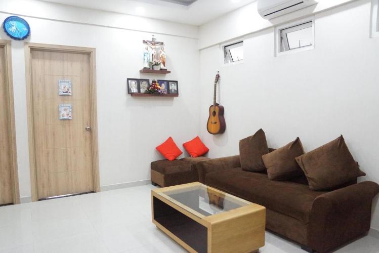 Căn hộ Dream Home Residence tầng trung, đón view nội khu mát mẻ.