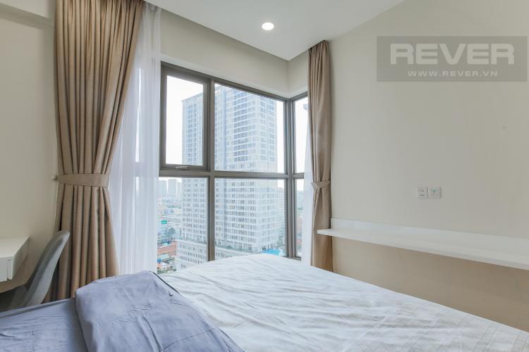 Phòng Ngủ 1 Căn hộ Masteri Millennium tầng cao block B, 2PN, nội thất đầy đủ, view kênh