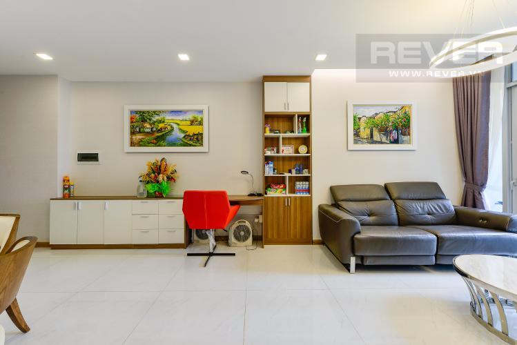 Phòng khách Căn hộ Vinhomes Central Park tầng thấp, Park 7, 2 phòng ngủ, view nội khu