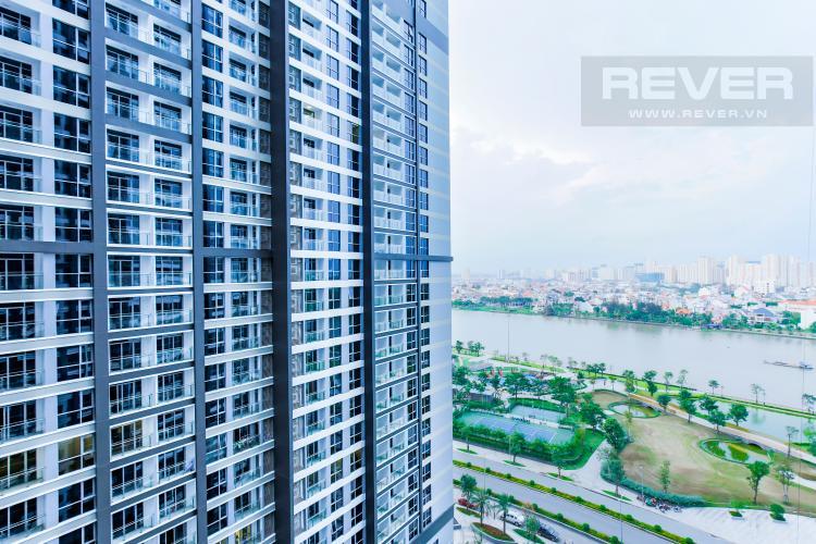 View Căn hộ Vinhomes Central Park trung tầng Park 1 thiết kế hiện đại, view sông