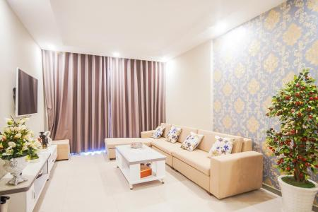 Cho thuê căn hộ The Gold View 2PN, block A, đầy đủ nội thất, view hồ bơi và rạch Bến Nghé
