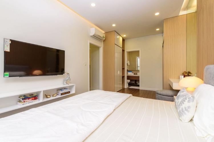 Phòng ngủ One Verandah Quận 2 Căn hộ One Verandah đầy đủ nội thất, view sông và thành phố.