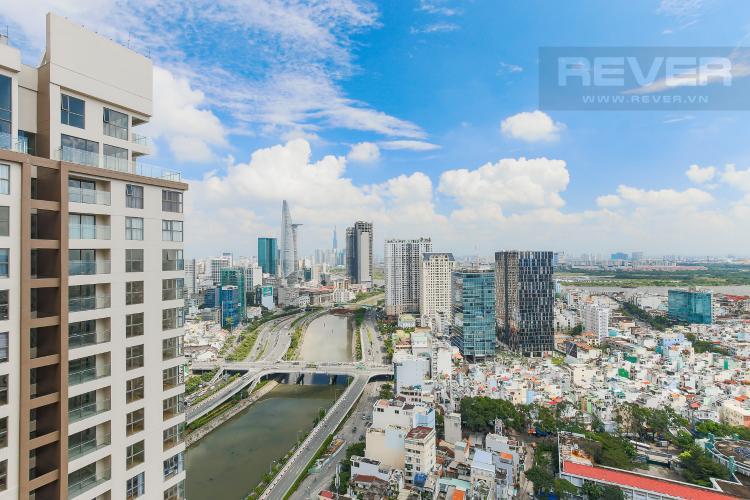 View Căn hộ Masteri Millennium tầng cao, view sông, 2PN nội thấy đầy đủ
