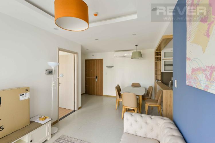 Phòng khách căn hộ NEW CITY THỦ THIÊM Cho thuê căn hộ New City Thủ Thiêm 3PN, tầng 12, đầy đủ nội thất, view nội khu