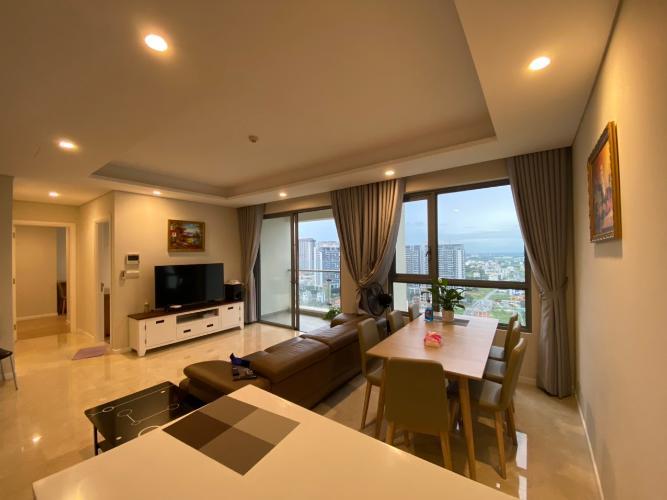 Phòng khách Diamond Island Quận 2  Căn hộ Đảo Kim Cương tầng trung, view thành phố.