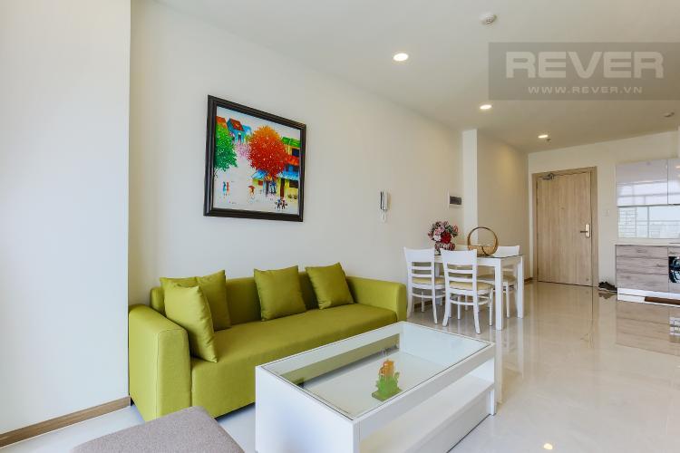 Phòng Khách Căn hộ Riva Park 2 phòng ngủ tầng thấp B2 hướng Đông Nam
