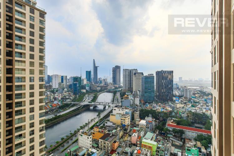 View Cho thuê căn hộ Masteri Millennium tầng cao, 2PN đầy đủ nội thất view sông