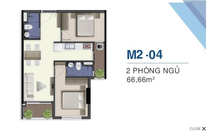 Mặt bằng nội thất Q7 Saigon Riverside Bán căn hộ tầng cao Q7 Saigon Riverside, ban công hướng Nam.