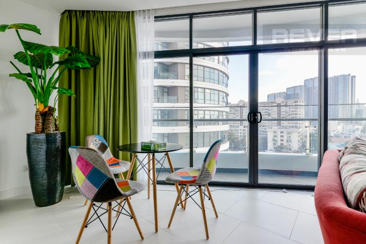 Phòng Ăn Cho thuê căn hộ City Garden 2PN 2WC, đầy đủ nội thất, view sông