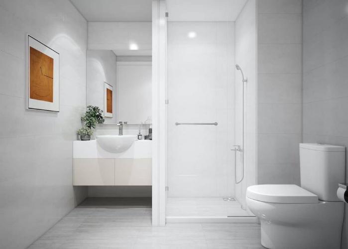 Phòng tắm căn hộ Ricca, Quận 9 Căn hộ chung cư Ricca bàn giao nội thất cơ bản, hướng Đông.