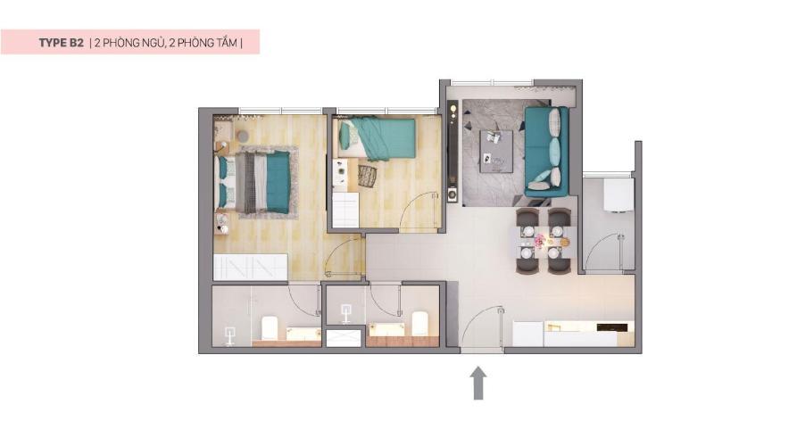 Căn hộ CitiAlto tầng trung, hướng Tây Nam, nội thất cơ bản.