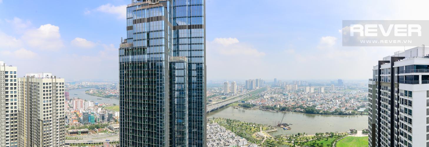 View Căn hộ Vinhomes Central Park 2 phòng ngủ tầng cao L2 view sông