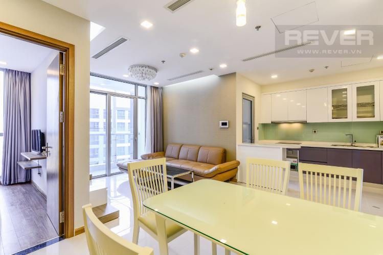Phòng Khách Căn hộ Vinhomes Central Park 3 phòng ngủ tầng cao P7 view sông