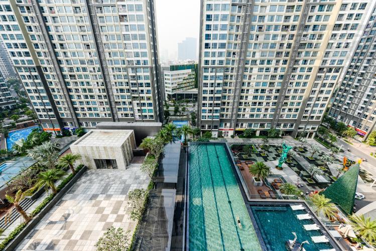 View Căn hộ Vinhomes Central Park tháp Landmark 81, 1PN, view hồ bơi