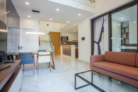 Duplex 2 phòng ngủ Vista Verde tầng thấp T2 đầy đủ nội thất