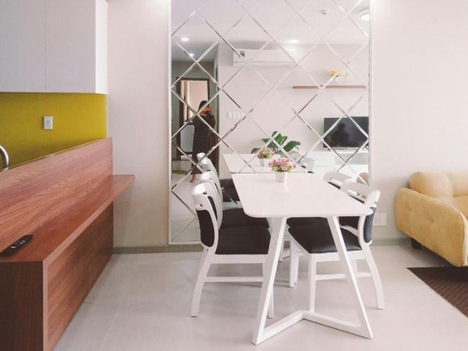 Phòng Ăn Cho thuê căn hộ The Gold View 2PN, tầng trung, đầy đủ nội thất, view sông và thành phố