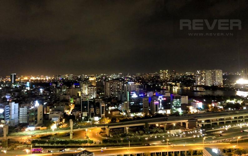 View Cho thuê căn hộ Vinhomes Central Park 2PN 2WC, đầy đủ nội thất, view thành phố