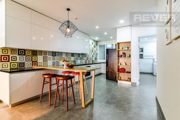 Nhà Bếp Penthouse Saigon Pearl tháp Sapphire diện tích 221m2 full nội thất