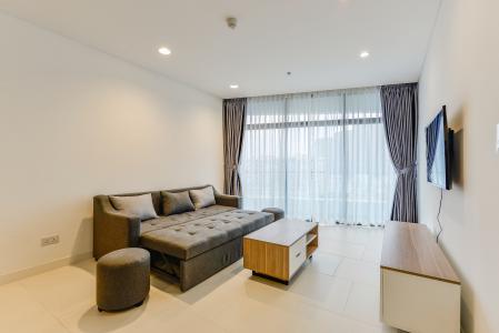 Cho thuê căn hộ City Garden tầng trung, 1PN, đầy đủ nội thất
