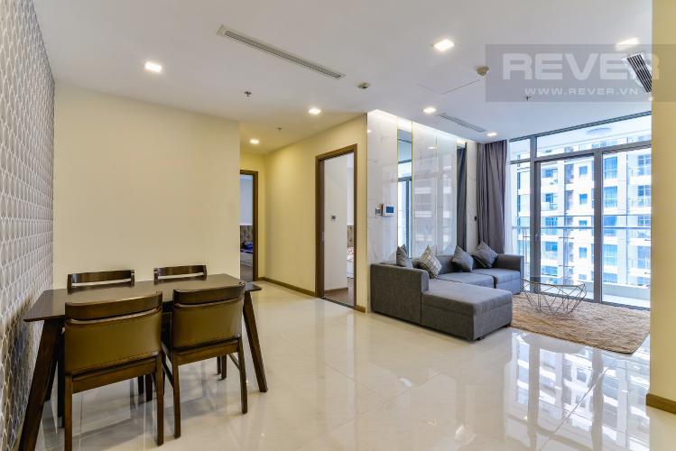 Phòng Khách Căn hộ Vinhomes Central Park 2 phòng ngủ tầng cao P2 nội thất đầy đủ