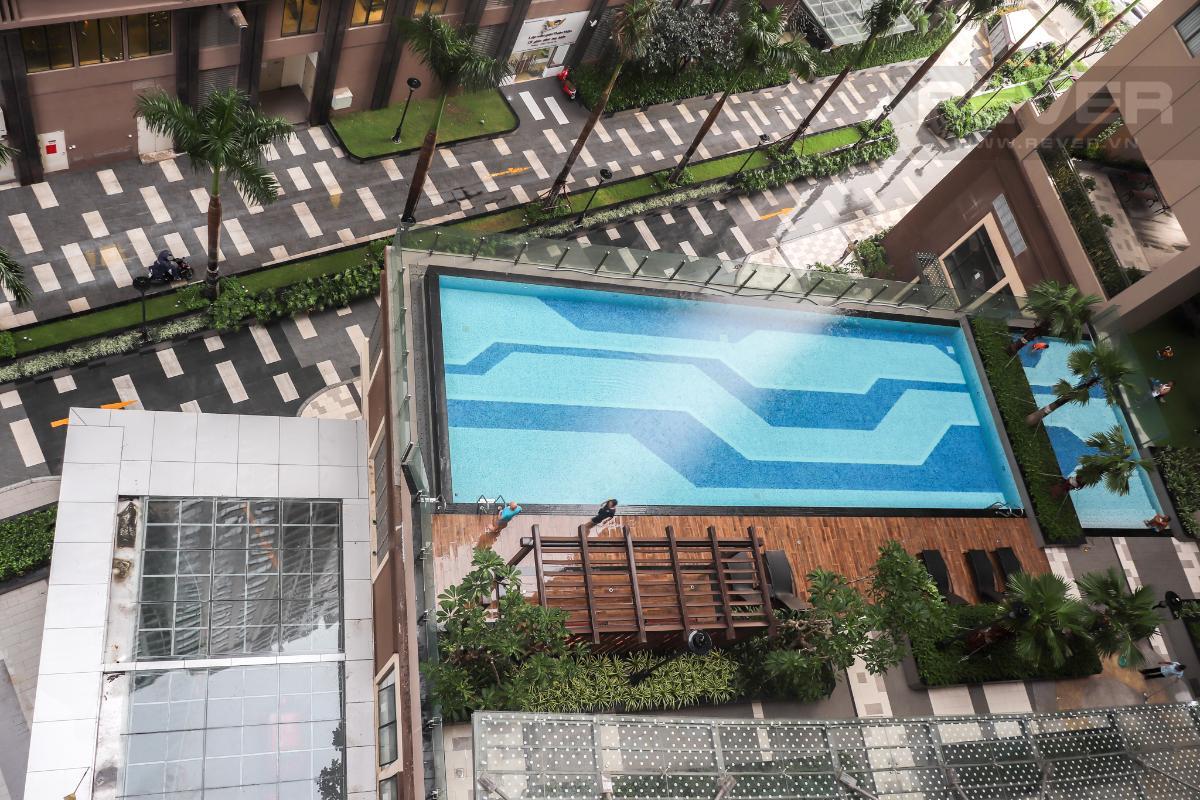 View Hồ Bơi Nội Khu Cho thuê căn hộ Saigon Royal 2PN, tháp A, không có nội thất, view hồ bơi nội khu