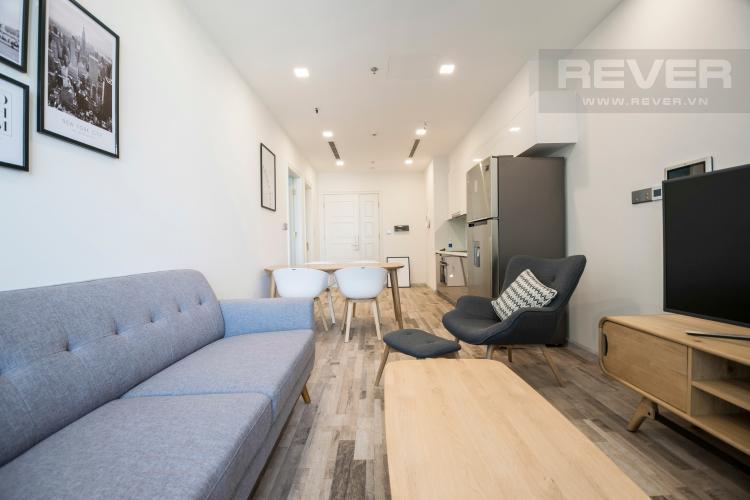 Phòng Khách Officetel Vinhomes Golden River 1 phòng ngủ tầng trung A2 view sông