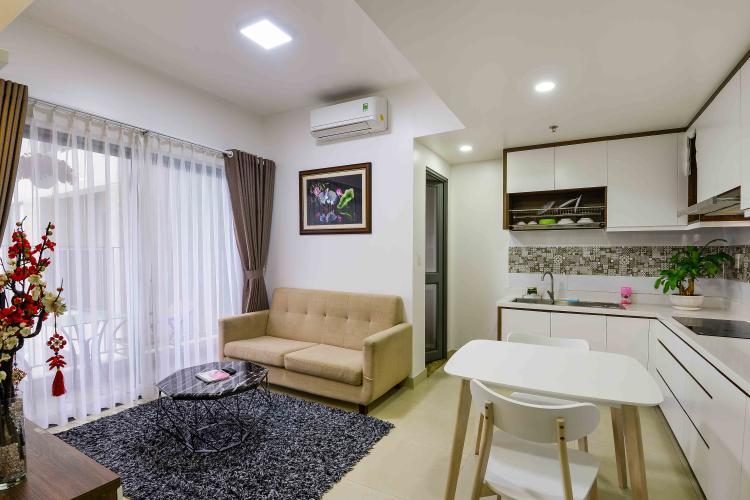 Phòng Khách Cho thuê căn hộ Masteri Thảo Điền 2PN, tháp T1, đầy đủ nội thất, view Xa lộ Hà Nội