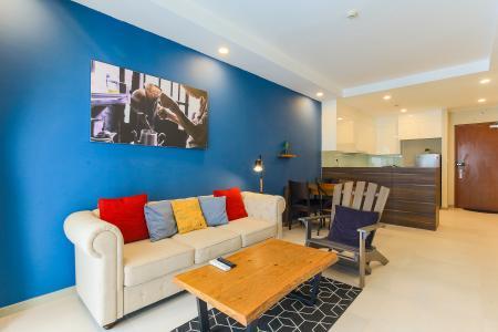 Cho thuê căn hộ The Gold View 2PN đầy đủ nội thất, có ban công