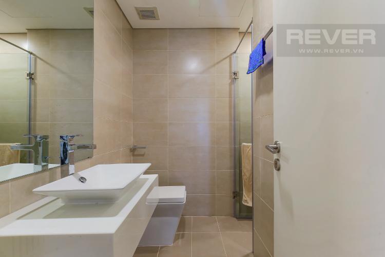 Phòng Tắm 1 Cho thuê căn hộ Masteri Millennium tầng trung, có ban công, 2PN