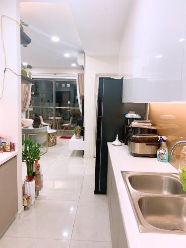 khu vực bếp căn hộ Masteri Millennium Căn hộ Masteri Millennium đầy đủ nội thất, view thành phố sầm uất.