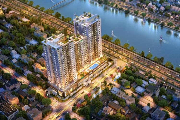 Viva Riverside, Quận 6 Căn hộ Viva Riverside tầng trung, ban công view thành phố sầm uất.