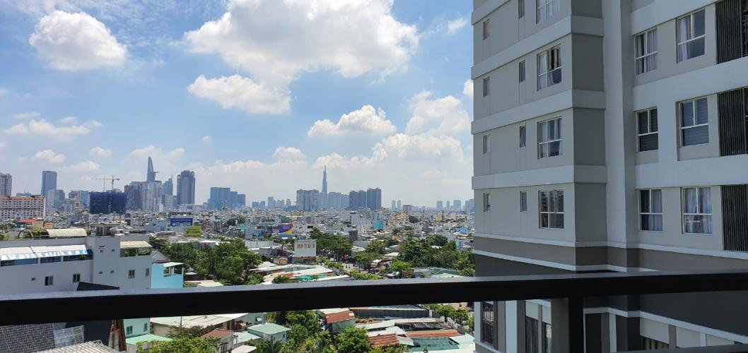 View ban công Sunrise CityView, Quận 7 Căn hộ Sunrise City View nội thất cơ bản, view thành phố.