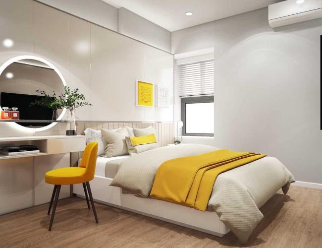 Phòng ngủ căn hộ Ricca Căn hộ chung cư Ricca tầng cao hướng Đông Nam, nội thất cơ bản.