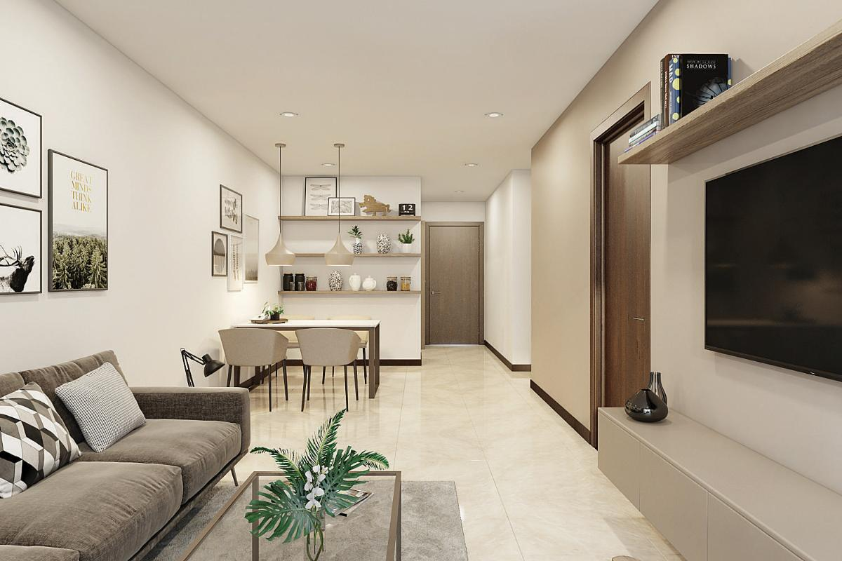 Phòng Khách Cho thuê căn hộ HaDo Centrosa Garden 2 phòng ngủ, diện tích 85m2, đầy đủ nội thất