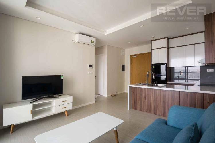 Phòng Khách Cho thuê căn hộ Diamond Island - Đảo Kim Cương 1PN, tầng cao, đầy đủ nội thất, view hồ bơi