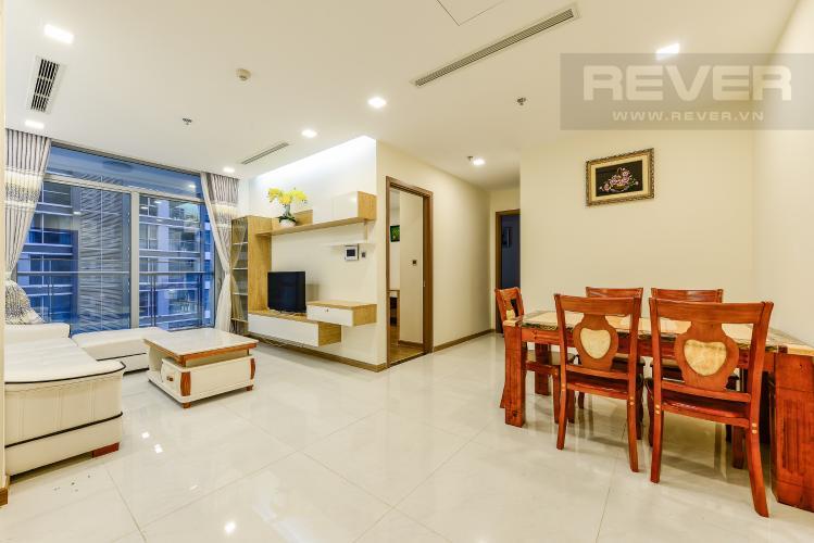 Phòng khách Cho thuê căn hộ Vinhomes Central Park tầng cao, 2PN đầy đủ nội thất view sông