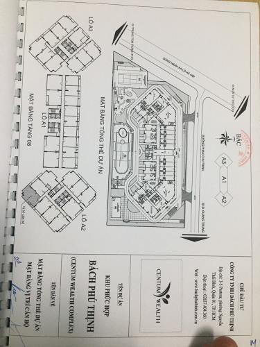 mặt bằng dự án Centum Wealth Bán căn hộ Centum Wealth, nội thất cơ bản, diện tích 82.5m2