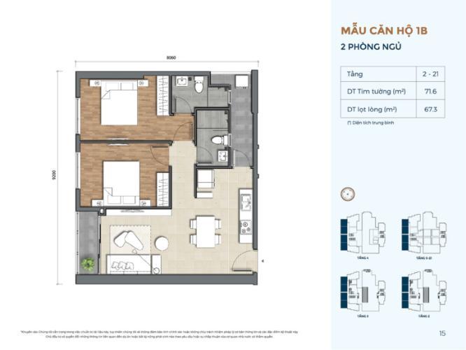 layout căn số 3 dự án Precia quận 2 Căn hộ tầng trung Precia nội thất cơ bản, thoáng mát.