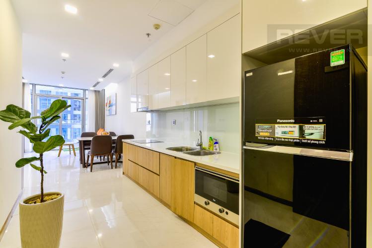 Nhà Bếp Căn hộ Vinhomes Central Park 1 phòng ngủ tầng trung P7 view hồ bơi