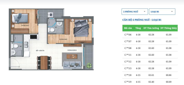 Căn hộ Lovera Vista nội thất cơ bản, view thoáng mát.